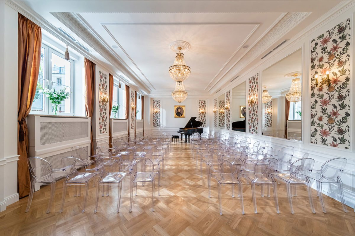 Business Conferences Warsaw decorative interior of Fryderyk Concert Hall
